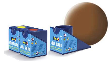 Revell Aqua Dark-Earth Matt - 18ml - Revell - RV36182