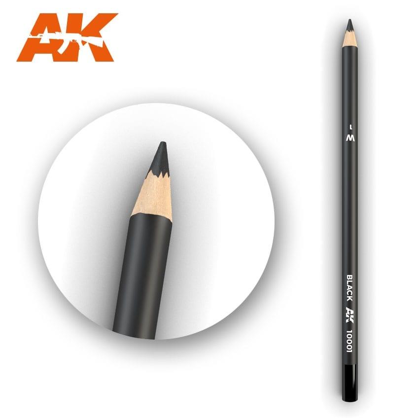 AK-Interactive Watercolor Pencil Black - AK-Interactive - AK-10001