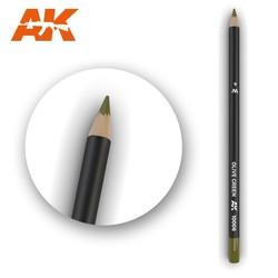 Watercolor Pencil Olive Green - AK-Interactive - AK-10006