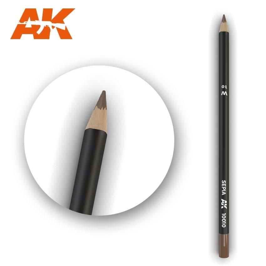 AK-Interactive Watercolor Pencil Sepia - AK-Interactive - AK-10010