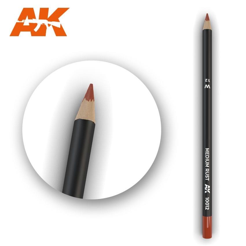 AK-Interactive Watercolor Pencil Medium Rust - AK-Interactive - AK-10012
