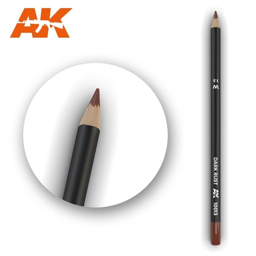 AK-Interactive Watercolor Pencil Dark Rust - AK-Interactive - AK-10013