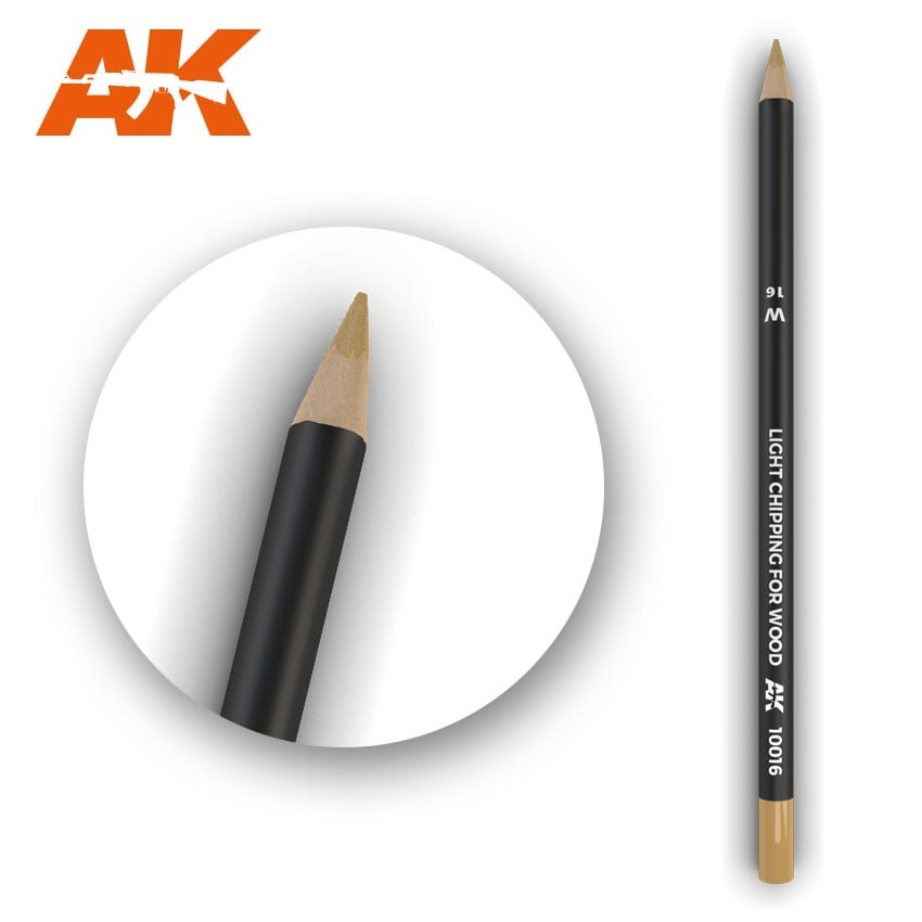 AK-Interactive Watercolor Pencil Light Chipping for wood - AK-Interactive - AK-10016