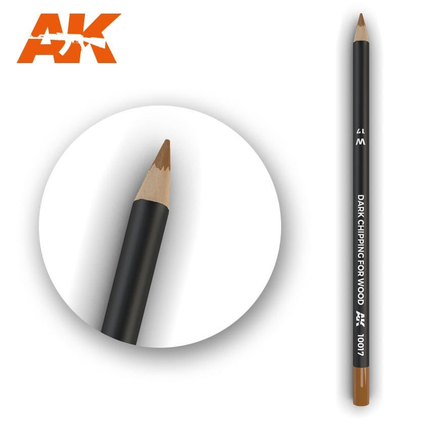 AK-Interactive Watercolor Pencil Dark Chipping for wood - AK-Interactive - AK-10017