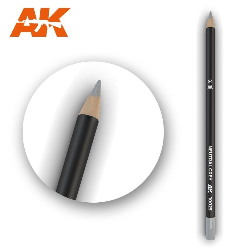 AK-Interactive Watercolor Pencil Neutral Grey - AK-Interactive - AK-10025