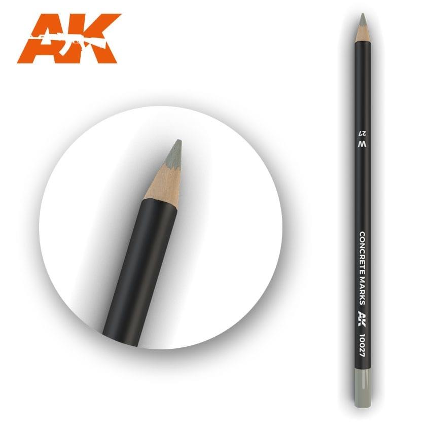 AK-Interactive Watercolor Pencil Concrete Marks - AK-Interactive - AK-10027