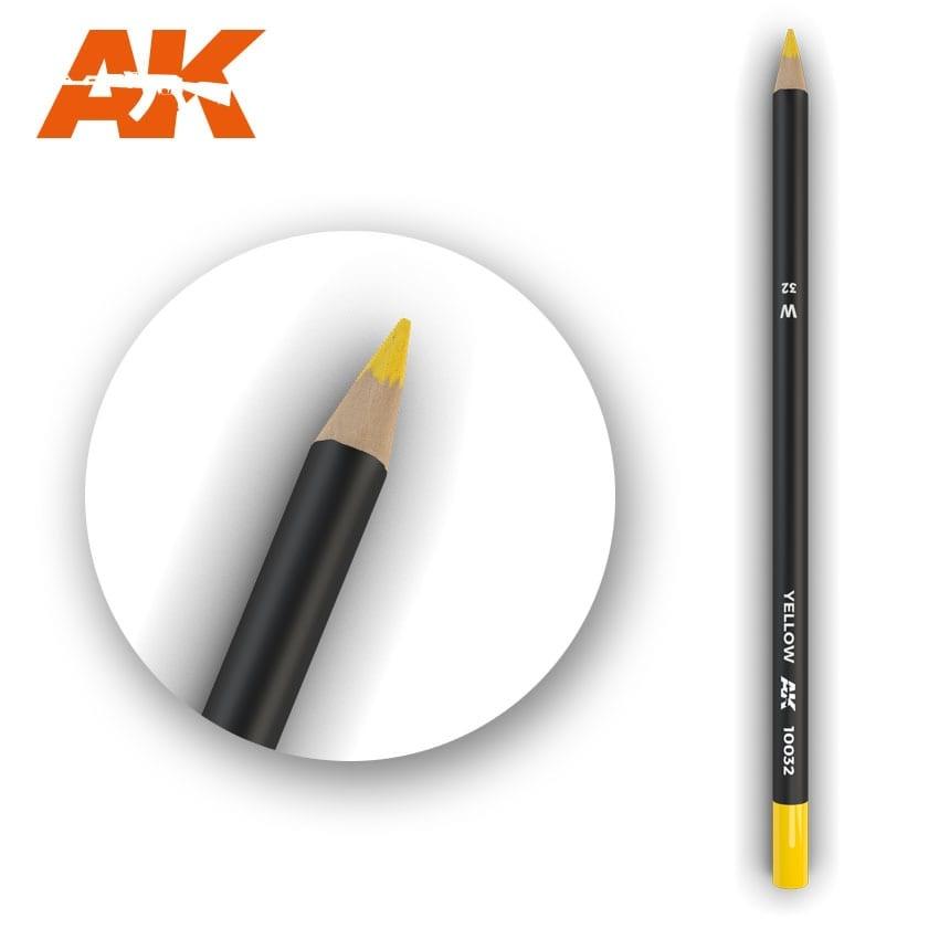 AK-Interactive Watercolor Pencil Yellow - AK-Interactive - AK-10032