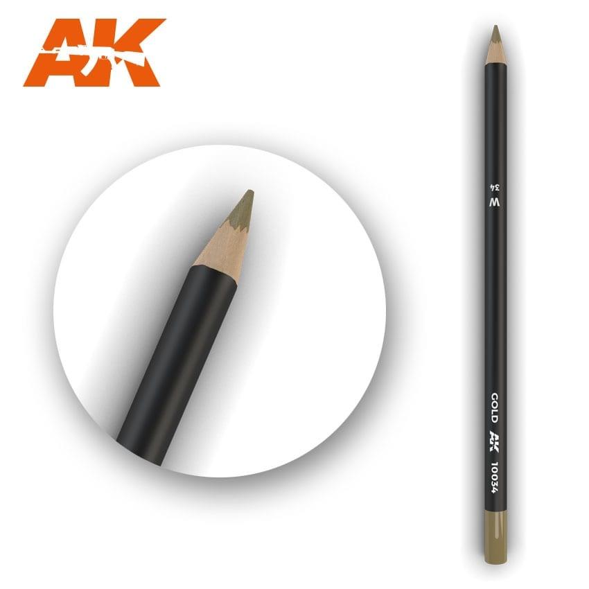 AK-Interactive Watercolor Pencil Gold - AK-Interactive - AK-10034