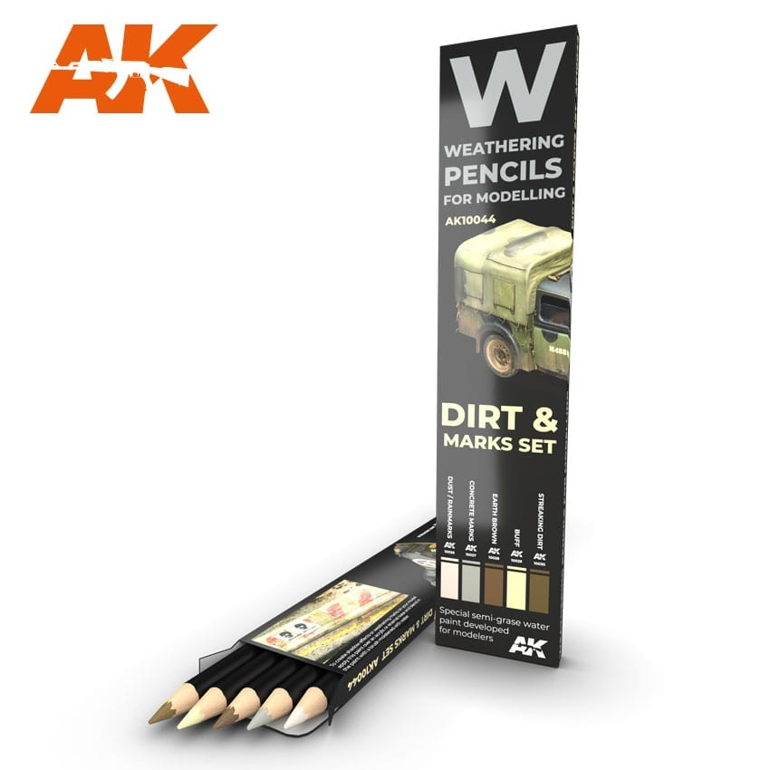 AK-Interactive Watercolor Pencil Set Splashes, Dirt And Stains - AK-Interactive - AK-10044