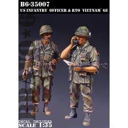 U.S. Infantry Officer & Rto, Vietnam 68 - Scale 1/35 - Bravo 6 - B6-35007