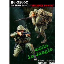 Us Army Infantry (3) Thumper Power - Scale 1/35 - Bravo 6 - B6-35052