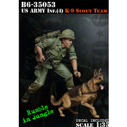 Us Army Infantry (4) Scout With Dog - Scale 1/35 - Bravo 6 - B6-35053