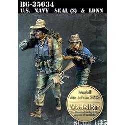 Us Navy Seal (2) & Ldnn - Scale 1/35 - Bravo 6 - B6-35034