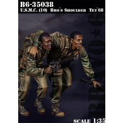Usmc(10) Bro`S Shoulder Tet`68 - Scale 1/35 - Bravo 6 - B6-35038