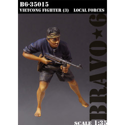 Vietkong Fighter (3), Local Forces - Scale 1/35 - Bravo 6 - B6-35015