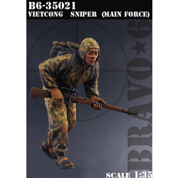 Vietkong Sniper, (Main Forces) - Scale 1/35 - Bravo 6 - B6-35021