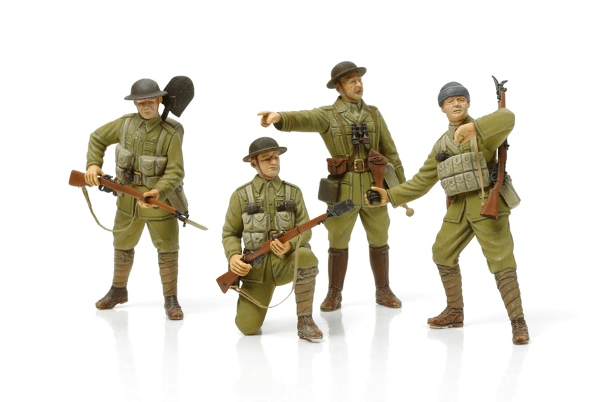 Tamiya British Infantry - With Small Arms & Equipment - Scale 1/35 - Tamiya - TAM32409