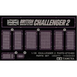Challenger 2 Photo-Etched Parts Set - Scale 1/35 - Tamiya - TAM35277