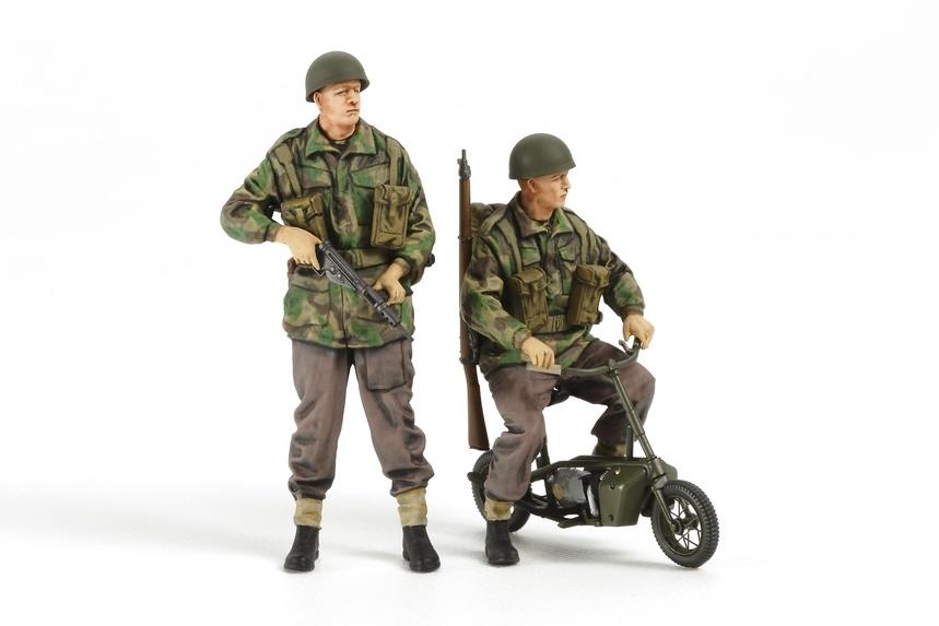 Tamiya British Paratroopers - With Small Motorcycle - Scale 1/35 - Tamiya - TAM35337