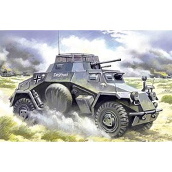 Sdkfz.222 Lt.Armoured Vehicle - Scale 1/48 - ICM - ICM-48191