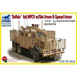 Buffalo 6X6 Mpcv W/Slat Armor &Amp - Scale 1/35 - Bronco Models - BRO CB35145