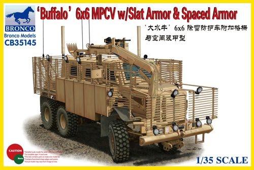 Bronco Models Buffalo 6X6 Mpcv W/Slat Armor &Amp - Scale 1/35 - Bronco Models - BRO CB35145