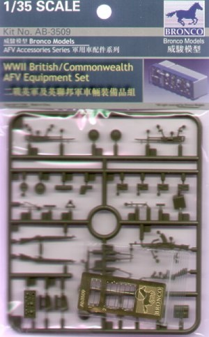 Bronco Models WWII British/Commonwealth Afv Equipment Set - Scale 1/35 - Bronco Models - BRO AB3509