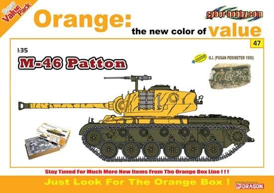 Cyberhobby M46 Patton (including 4 figures) - Scale 1/35 - Cyberhobby - CHY 9147