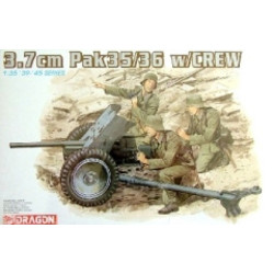 3,7Cm Pak36 with Servants - Scale 1/35 - Dragon - DRN 06152
