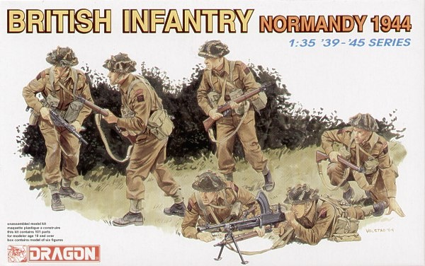 Dragon British Infantry (Normandy 1944) - Scale 1/35 - Dragon - DRN 06212