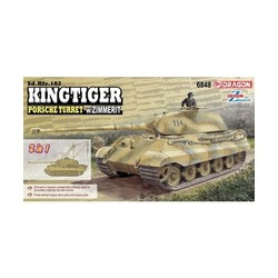Sd.Kfz.182 Kingtiger Porsche Turret W/Zimmerit  - Scale 1/35 - Dragon - DRN 6848