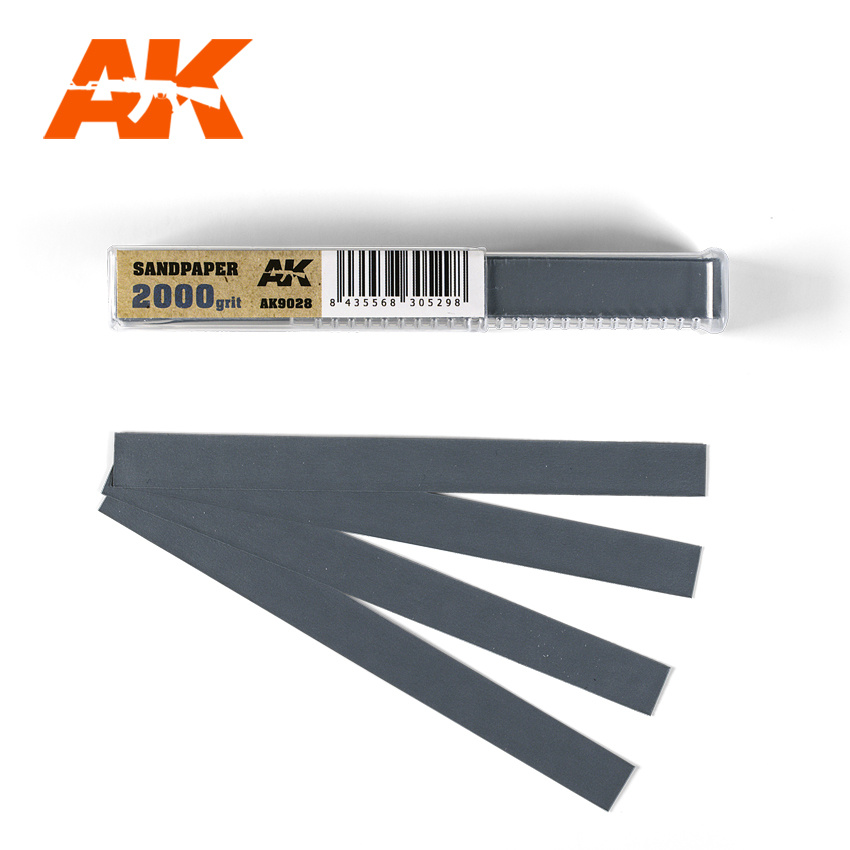 AK-Interactive Wet Sandpaper 2000 Grit X 50 Stuks - AK-Interactive - AK-9028