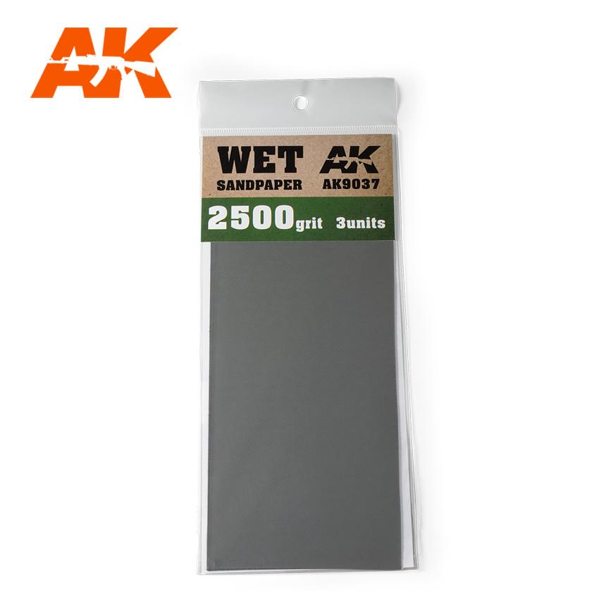 AK-Interactive Wet Sandpaper 2500 Grit. 3 Stuks - AK-Interactive - AK-9037
