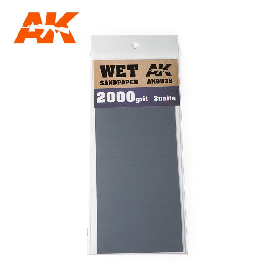 AK-Interactive Wet Sandpaper 2000 Grit. 3 Stuks - AK-Interactive - AK-9036