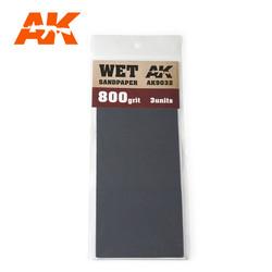 Wet Sandpaper 800 Grit. 3 Stuks