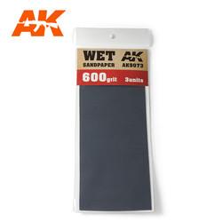 Wet Sandpaper 600 Grit. 3 Stuks