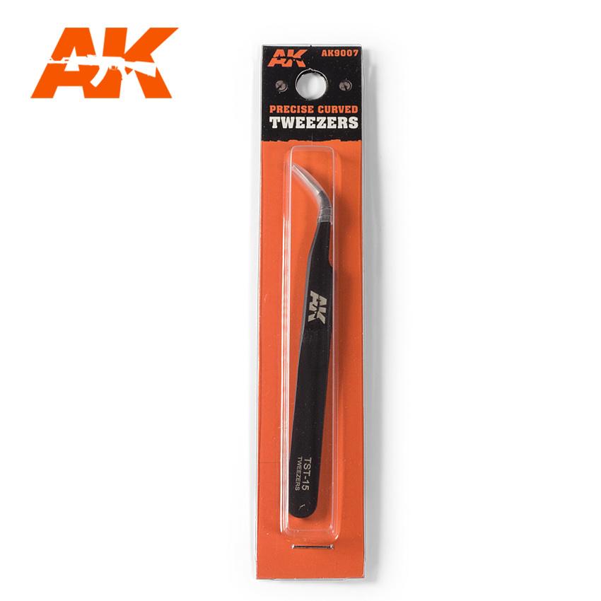 AK-Interactive Precise Curved Tweezers - AK-Interactive - AK-9007