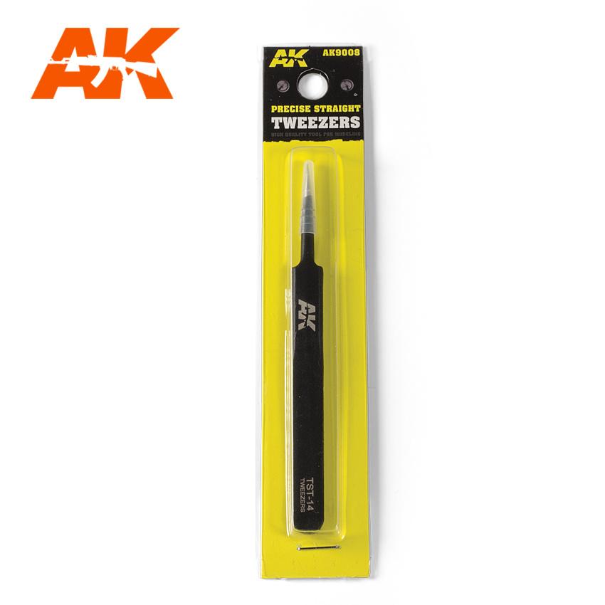 AK-Interactive Precise Straight Tweezers - AK-Interactive - AK-9008