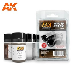 Mix N Ready (4 Empty Jars Whith Labels) - AK-Interactive - AK-616
