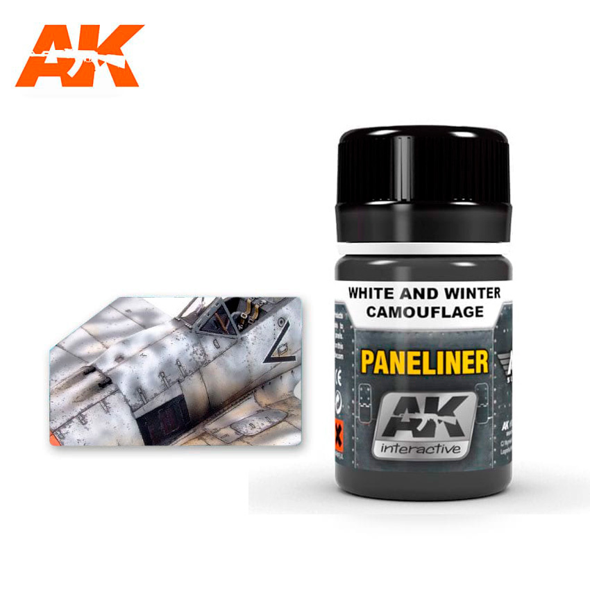 AK-Interactive Paneliner For White And Winter Camouflage - 35ml - AK-Interactive - AK-2074