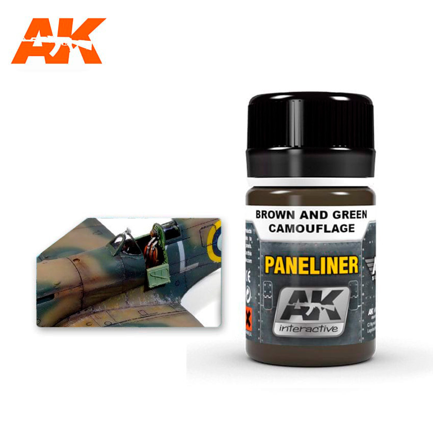 AK-Interactive Paneliner For Brown And Green Camouflage - 35ml - AK-Interactive - AK-2071