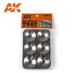 Six Wells Tray - AK-Interactive - AK-9014