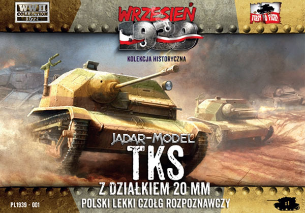 First to Fight Polish TKS reconnaissance tank - Scale 1/72 - First to Fight - FIS001