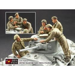 British Valentine Tank Crew - Scale 1/35 - Hobby Fan - HFN-HF709