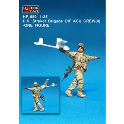 U.S. Stryker Brigade Oif Acu Crew(4) - Scale 1/35 - Hobby Fan - HFN-HF589