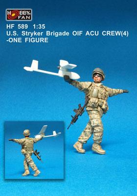 Hobbyfan U.S. Stryker Brigade Oif Acu Crew(4) - Scale 1/35 - Hobby Fan - HFN-HF589