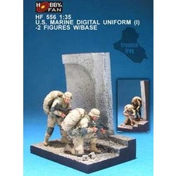 U.S. Marine Digital Uniform (1) - with base - Scale 1/35 - Hobby Fan - HFN-HF556