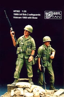 Hobbyfan 196th Inf Bde Safeguards Vietnam ´68 with base - Scale 1/35 - Hobby Fan - HFN-HF502