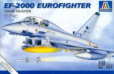 Italeri Ef-2000 Eurofighter Twin Seater - Scale 1/72 - Italeri - ITA-0099