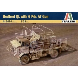 Bedford Ql With 6 Pdr.At Gun - Scale 1/35 - Italeri - ITA-6474